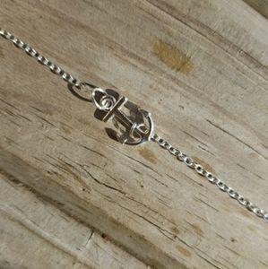 Anchor Anklet Bracelet in Silver
